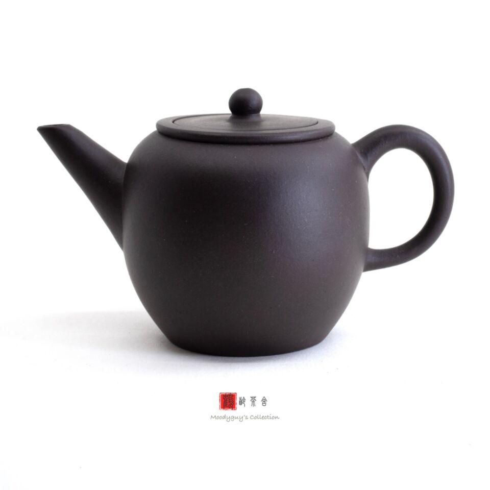 F1, Factory #1, Yixing, zisha, teapot, Black Zi Ni, Black Apple, 70s, 6-cup